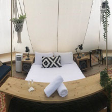 Glamping Bell Tent at Scamander Sanctuary