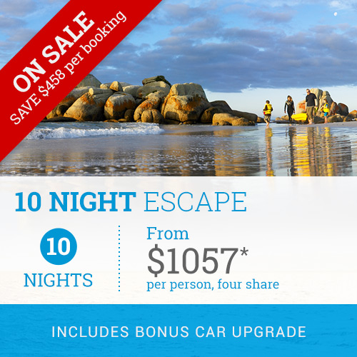 TasVacations Tasmania 10 Night Escape Self-Drive Holiday Package