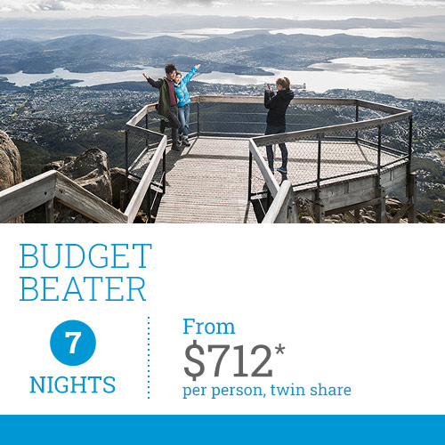 TasVacations Tasmania 7 Night Budget Beater Self-Drive Holiday Package