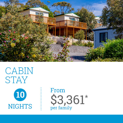 TasVacations Tasmania 12 Night Cabin Stay Holiday Package