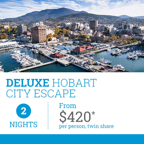 TasVacations Tasmania 2 Night Deluxe Hobart City Escape Holiday Package