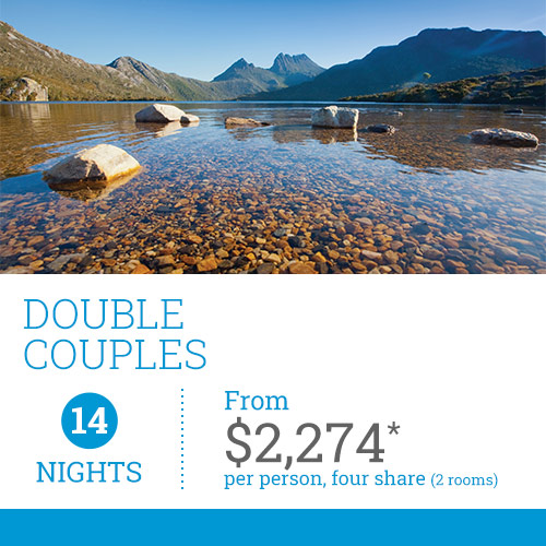 TasVacations Tasmania 14 Night Double Couples Self-Drive Holiday Package