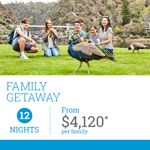 TasVacations Tasmania 12 Night Family Getaway Self-Drive Holiday Package