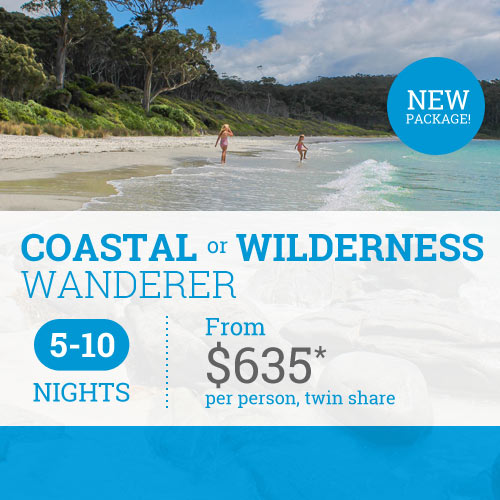 TasVacations Tasmania 5-10 Night Coastal or Wilderness Wanderer Holiday Package